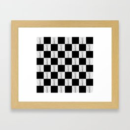 Checkerboard Pussy Framed Art Print