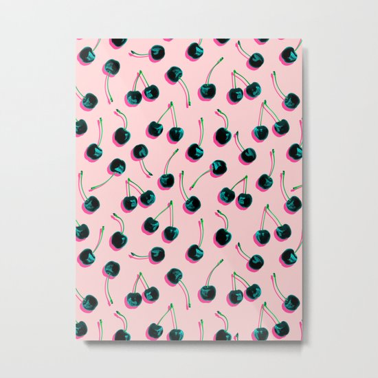 Pop Cherries Metal Print