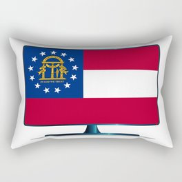 Georgia Flag TV Rectangular Pillow