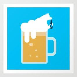 polar beer Art Print