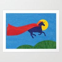 Unicorn Dreams - Run Art Print