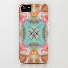 Fractal Art- Mint Art-Coral Art- Juorbin- Sacred Geometry iPhone Case