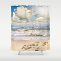 paradise Shower Curtains featuring Paradise by RasaOm