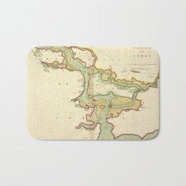 Vintage Map of Cork Harbor Ireland (1702) Bath Mat