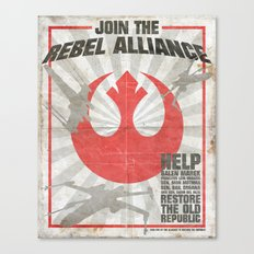 Join the Rebel Alliance Canvas Print