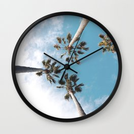 Palms Blue Sky Wall Clock