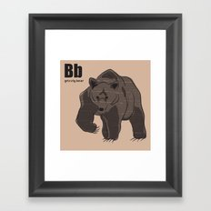 grizzly bear Framed Art Print