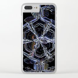 Water as a Crystal, pattern snowflake art on leggings and more! Clear iPhone Case