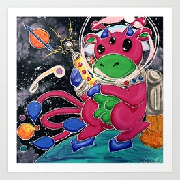 Susan the Space Cow Art Print
