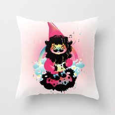 Whistling gnome Throw Pillow