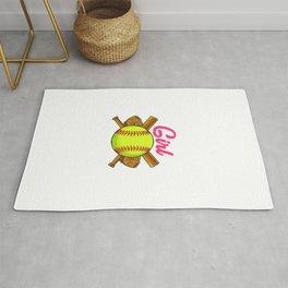 Yes I Throw Like a Girl Want a Lesson? Softball Rug