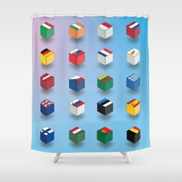 European Union flags Shower Curtain