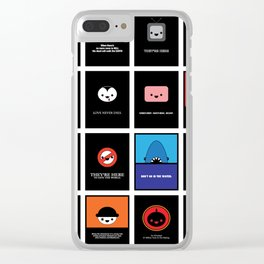 Cute Movie Posters Clear iPhone Case