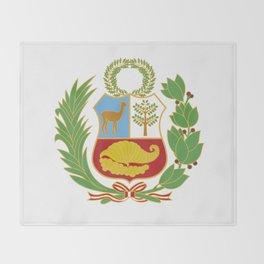 Peru Shield Throw Blanket