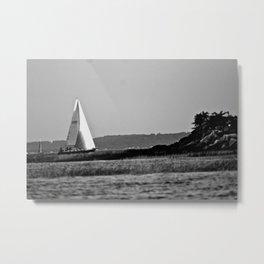 Long Island Sound Sailboat Metal Print