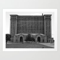 Detroit Train Depot Art Print