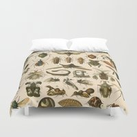 insects Duvet Covers featuring Insects by Connie Goldman