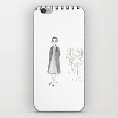 cafe girl iPhone & iPod Skin