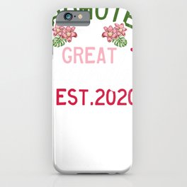 Promoted to Great Grandma iPhone Case