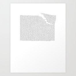 Erosion & Typography 2 Art Print