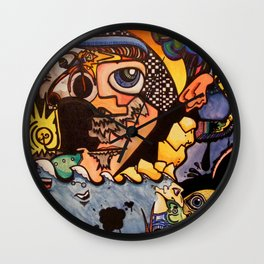 Surreal in Boulder Wall Clock