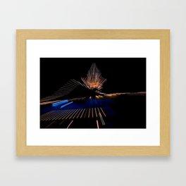 Abstract Dramatic Night Lights Framed Art Print