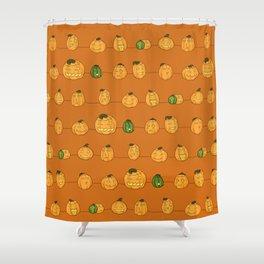 Pumpkin Pattern Orange Shower Curtain