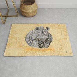 Swirly Rhino Rug