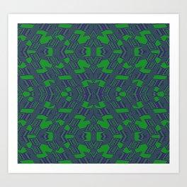 Etnic etic Green Art Print