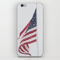 patriotic iPhone & iPod Skins featuring Patriotic Snowfall by Lia Bedell