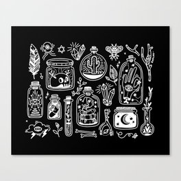 The Tiny Witch Gallery - Reverse Canvas Print