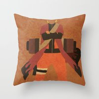 naruto Throw Pillows featuring Sage Naruto by JHTY