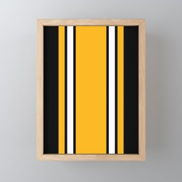 Pittsburgh Black And Yellow Abstract Framed Mini Art Print