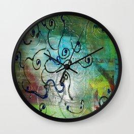 Metallic Peacock Brie Wall Clock