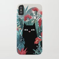 hawaiian iPhone & iPod Cases featuring Popoki by littleclyde
