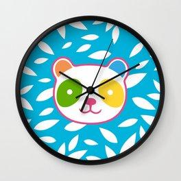 Rainbow Panda Wall Clock