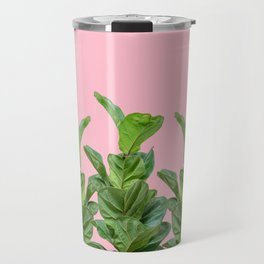 Rubber trees in group with pink Travel Mug