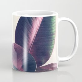 Pink and Green Iridescent Leaves Coffee Mug