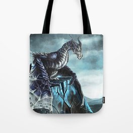 Frost Dragon Tote Bag