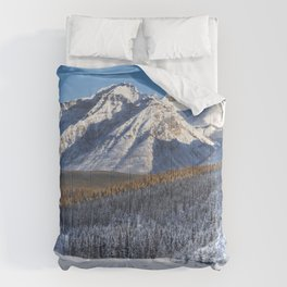 Winter Wonderland - Road in the Canadian Rockies Comforters