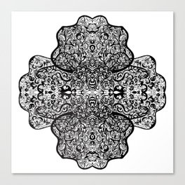 Paisley, Illustration, Ink Drawing Canvas Print