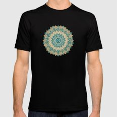 GOLD BOHOCHIC MANDALA IN GREENS Black MEDIUM Mens Fitted Tee
