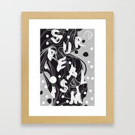 History of Art in Black and White. Surrealism Framed Art Print