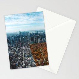 Central Park New York City Skyline Stationery Cards