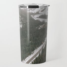 Snowy Mountain Road Travel Mug