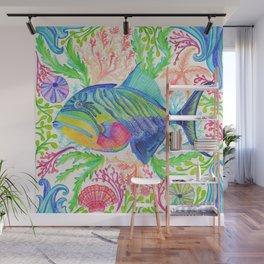 Parrot Fish & Ocean Creatures Wall Mural