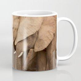 Herd of elephants in Addo Elephant National Park, South Africa Coffee Mug