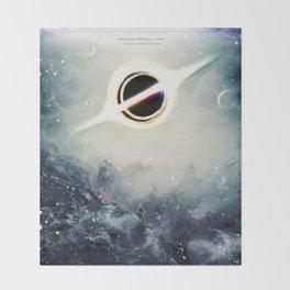 Interstellar Inspired Fictional Sci-Fi Teaser Movie Poster Throw Blanket