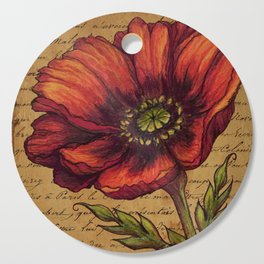 Antique Poppy Cutting Board
