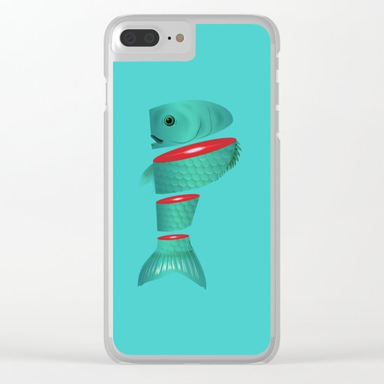 P is for sliced Phish Clear iPhone Case
